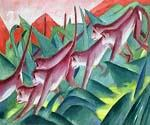 Monkey Frieze 01 by  Franz Marc (Painting ID: AN-1401-KA)