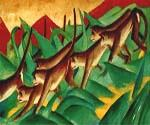 Monkey Frieze 02 by  Franz Marc (Painting ID: AN-1402-KA)