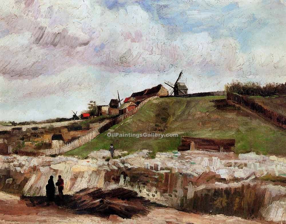"""Montmartre the Quarry and Windmills"" by  Vincent Van Gogh"
