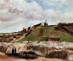 Montmartre the Quarry and Windmills by  Vincent Van Gogh (Painting ID: VG-0175-KA)