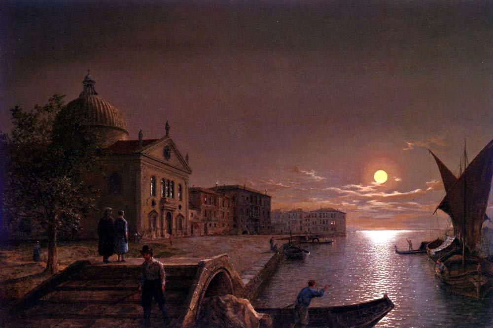 Moonlight in Venice by Henry Pether | Canvas Oil Painting - Oil Paintings Gallery
