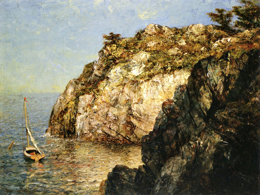 """Moored Along the Cliffs"" by  James Gale Tyler"