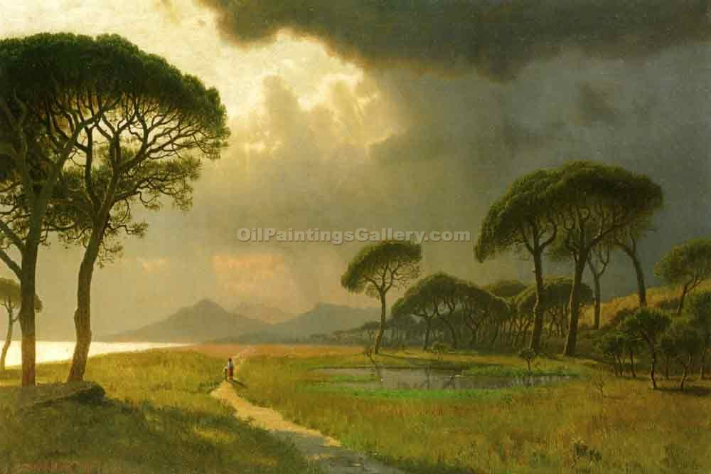 Morning Light, Roman Campagna by William Stanley Haseltine | Art Reproductions - Oil Paintings Gallery