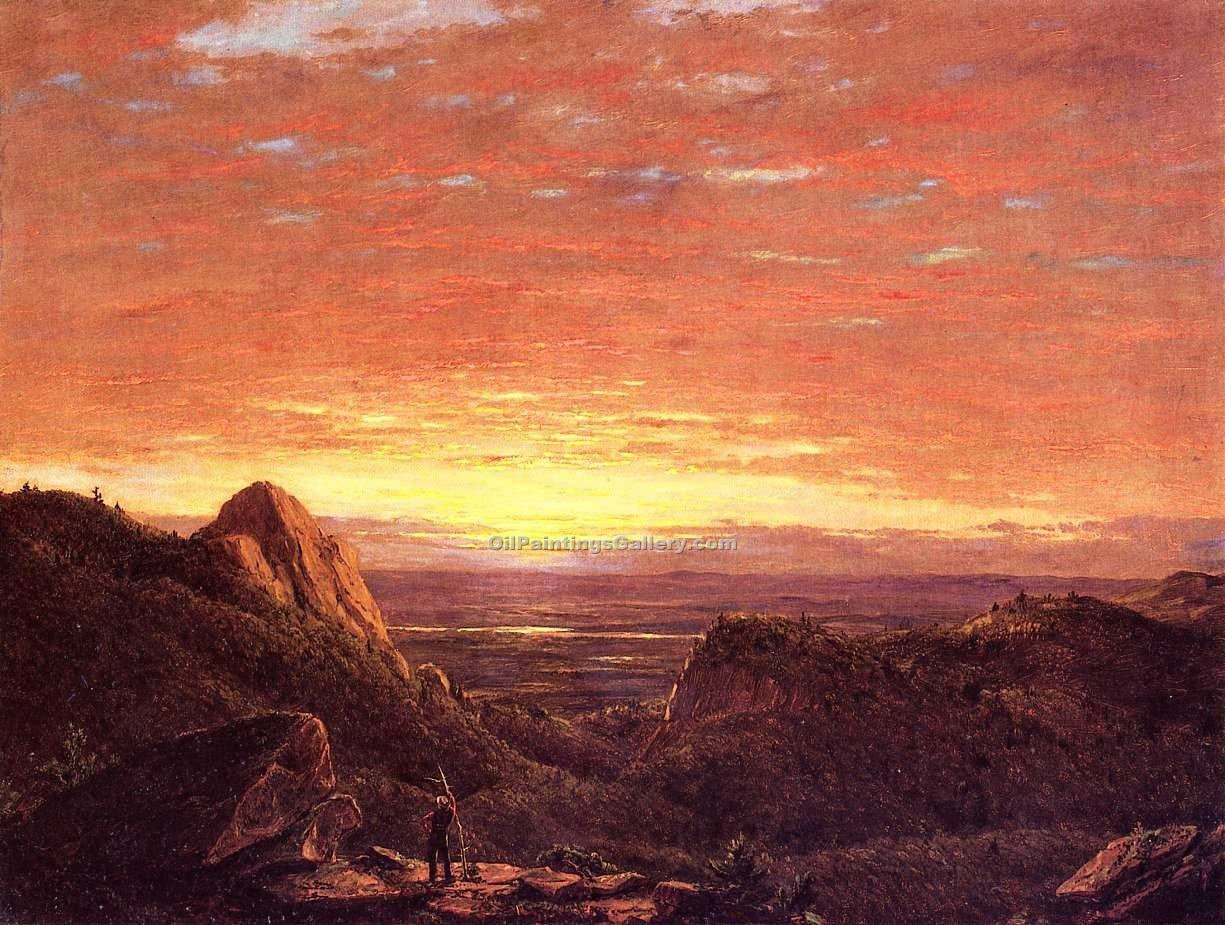"""Morning Looking East over the Husdon Valley"" by  Frederic Edwin Church"