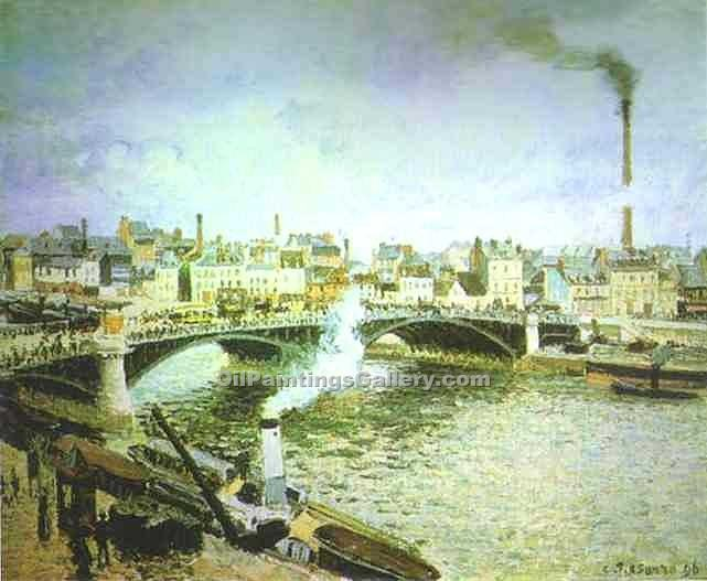 """Morning Overcast Weather Rouen"" by  Camille Pissarro"