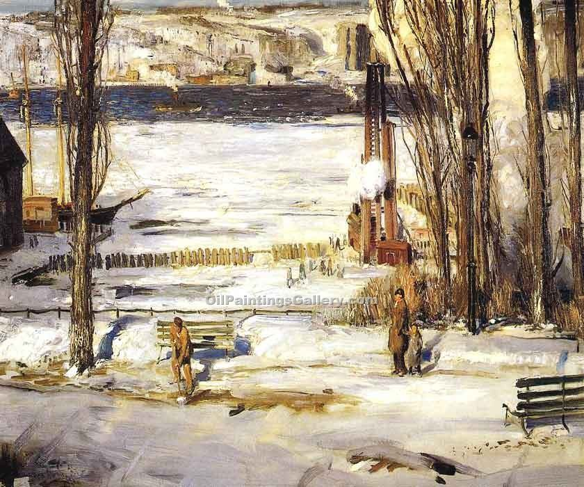 """Morning Snow"" by  George Bellows"