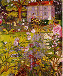 Morning in the Garden at Vauxcresso by  Edouard Vuillard (Painting ID: LA-3477-KA)