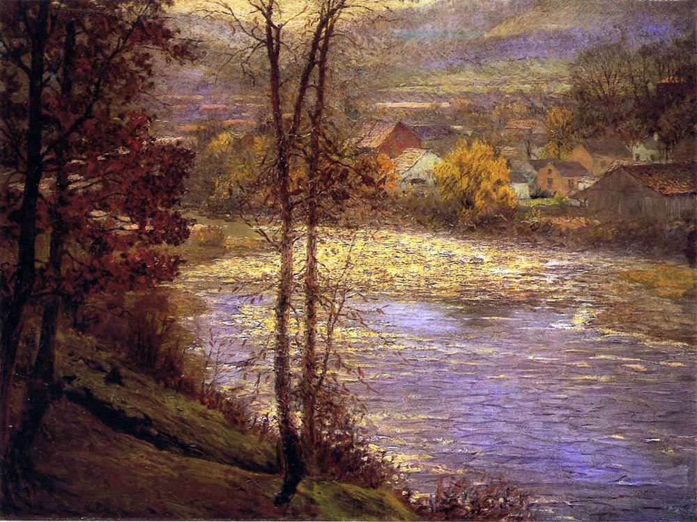 """Morning on the Whitewater"" by  John Ottis Adams"