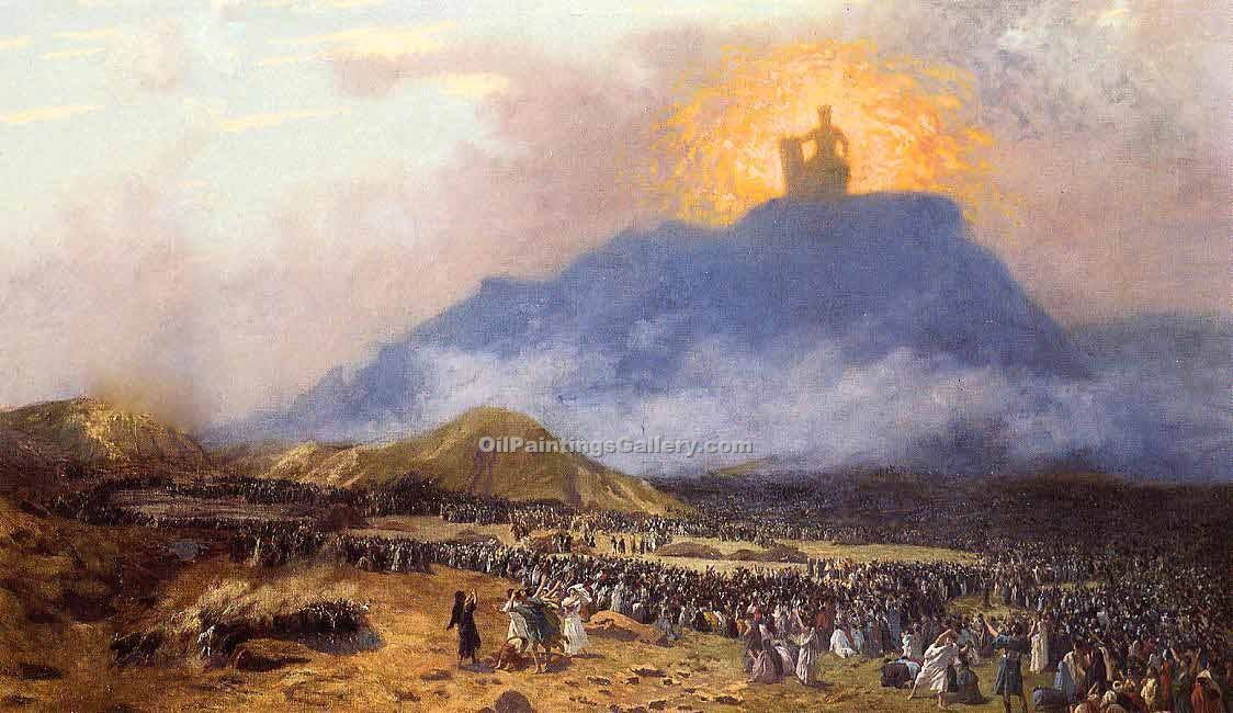 """Moses on Mount Sinai"" by  Jean Leon Gerome"