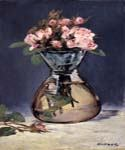 Moss Roses in a Vase by  Edouard Manet (Painting ID: SL-0102-KA)