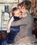 Mother and Child 05 by  Mary Cassatt (Painting ID: EI-0005-KA)