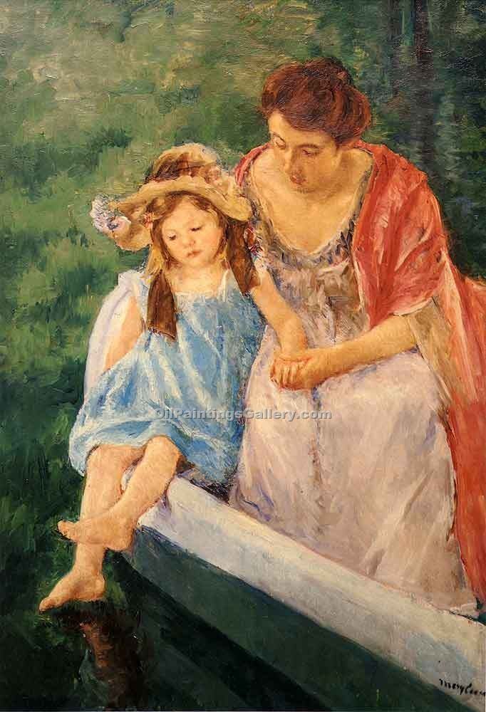 Mother and Child 06 by Cassatt Mary | Abstract Oil Paintings - Oil Paintings Gallery