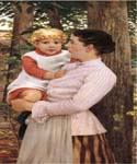 Mother and Child 30 by  James Carroll Beckwith (Painting ID: CL-3230-KA)
