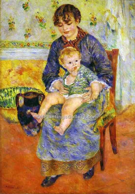 """Mother and Child 4"" by  Pierre Auguste Renoir"