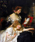 Mother and Child 46 by  James Jebusa Shannon (Painting ID: ED-0646-KA)