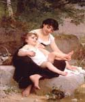 Mother and child 58 by  Emile Munier (Painting ID: EI-0058-KA)