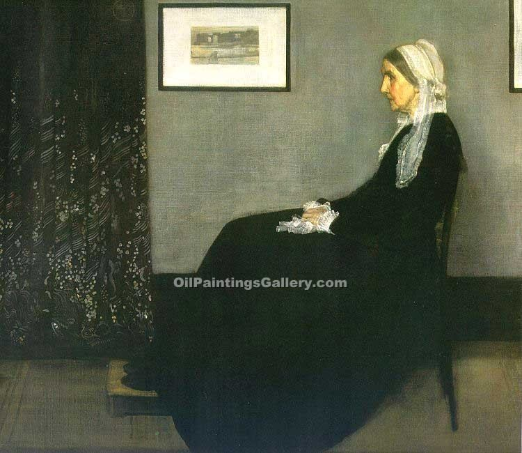 Mother by Whistler James McNeill | Oil Painting Landscapes - Oil Paintings Gallery