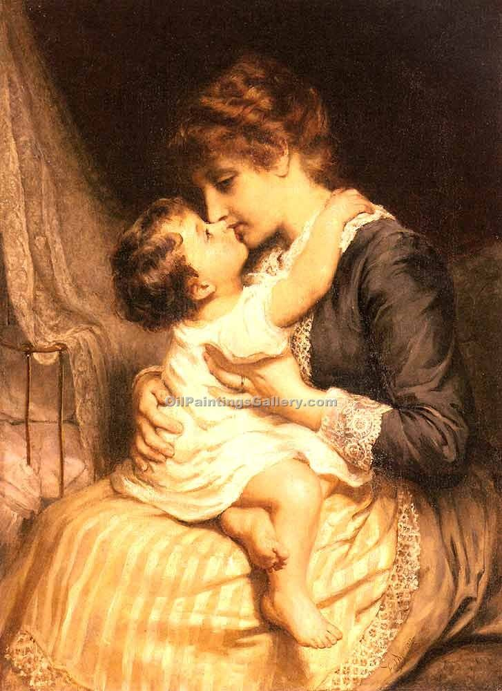 """Motherly Love"" by  Frederick Morgan"