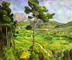 Moun Sainte Victire Seen from Bellevue by  Paul Cezanne (Painting ID: MO-1482-KA)
