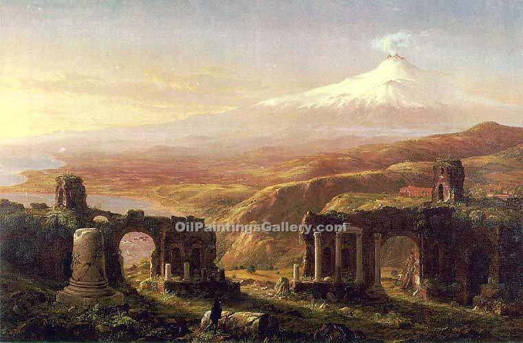 """Mount Aetna from Taormina"" by  Thomas Cole"