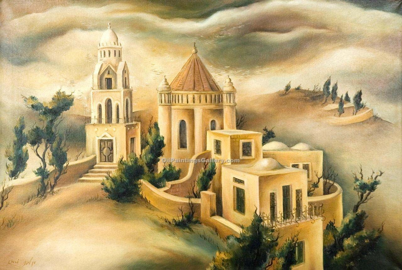 Mount Zion Jerusalem by Dan Livni | Hand Painted Oil Paintings - Oil Paintings Gallery