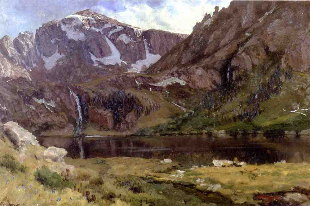 """Mountain Lake"" by  Albert Bierstadt"