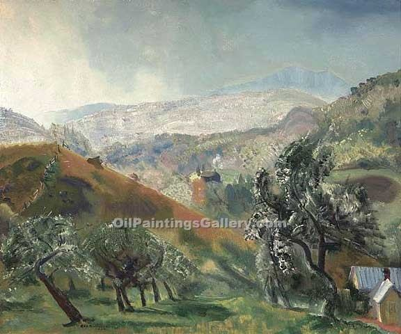 """Mountain Orchard Woodstock New York"" by  George Bellows"