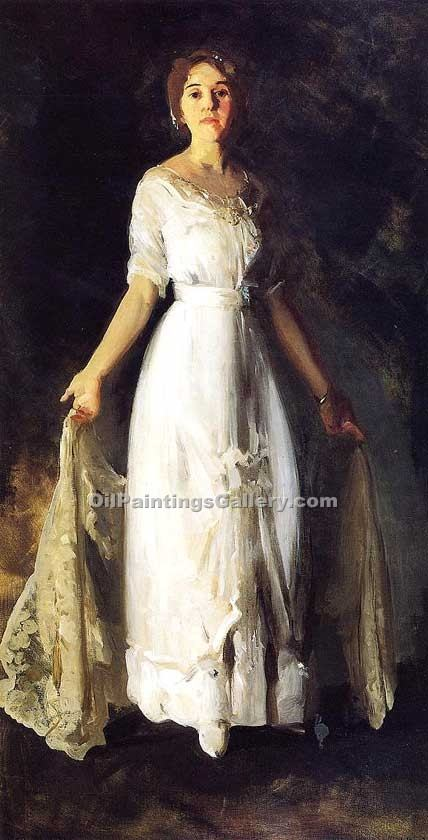"""Mrs. Albert M.Miller"" by  George Bellows"