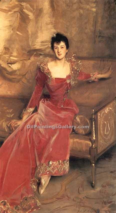 Mrs. Hugh Hammersley by John Singer Sargent | Portraits Painting On Canvas