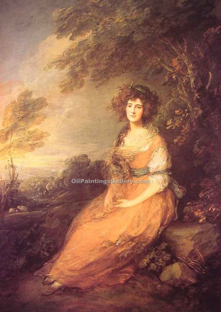 """Mrs Sheridan"" by  Thomas Gainsborough"