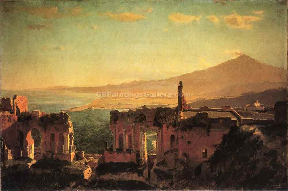 """Mt. Aetna from Taormina"" by  William Stanley Haseltine"