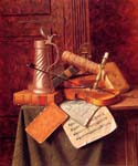 Munich Still Life 43 by  William Michael Harnett (Painting ID: GA-0443-KA)