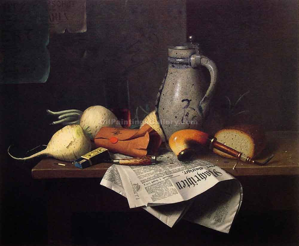 """Munich Still Life 52"" by  William Michael Harnett"