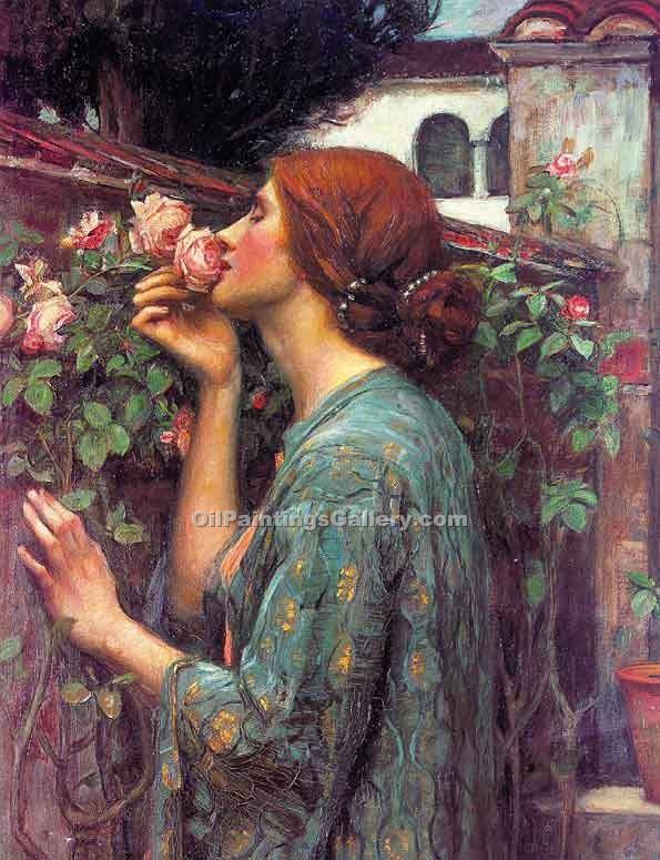 """My Sweet Rose"" by  John William Waterhouse"