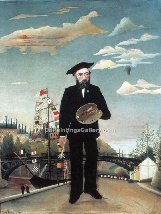 """Myself Portrait-Landscape"" by  Henri Rousseau"