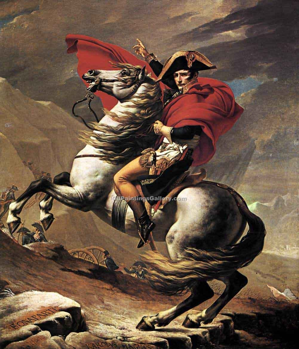 """Napoleon Bonaparte Crossing the St. Bernard"" by  Jacques Louis David"
