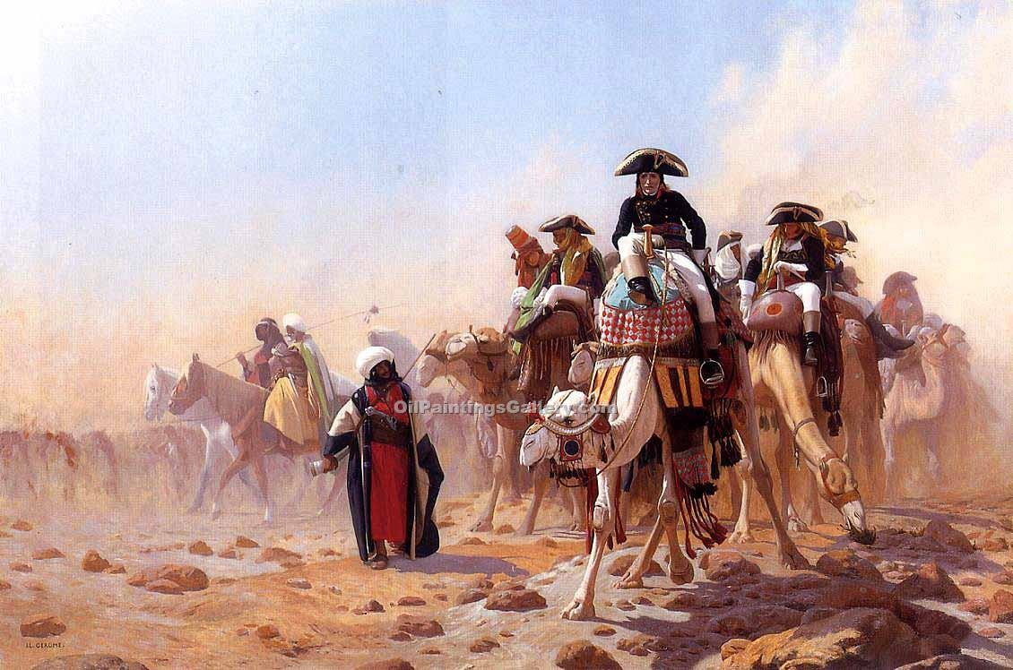 """Napoleon and His General Staff"" by  Jean Leon Gerome"