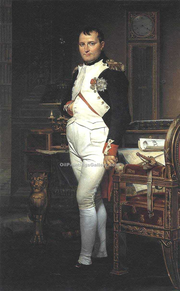 """Napoleon in his Study"" by  Jacques Louis David"