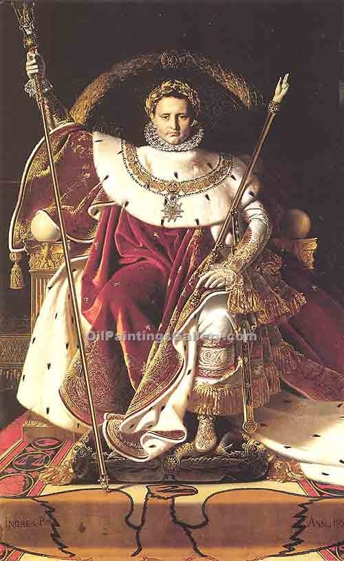"""Napoleon on His Imperial Throne"" by  Jean Auguste Ingres"