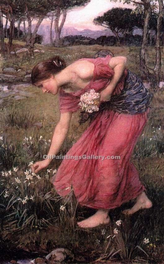 """Narcissus 04"" by  John William Waterhouse"