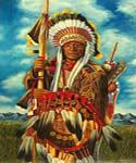 Native American Chief  (Painting ID: GE-2100-KA)