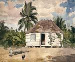 Nativehuts by  Winslow Homer (Painting ID: LA-5369-KA)