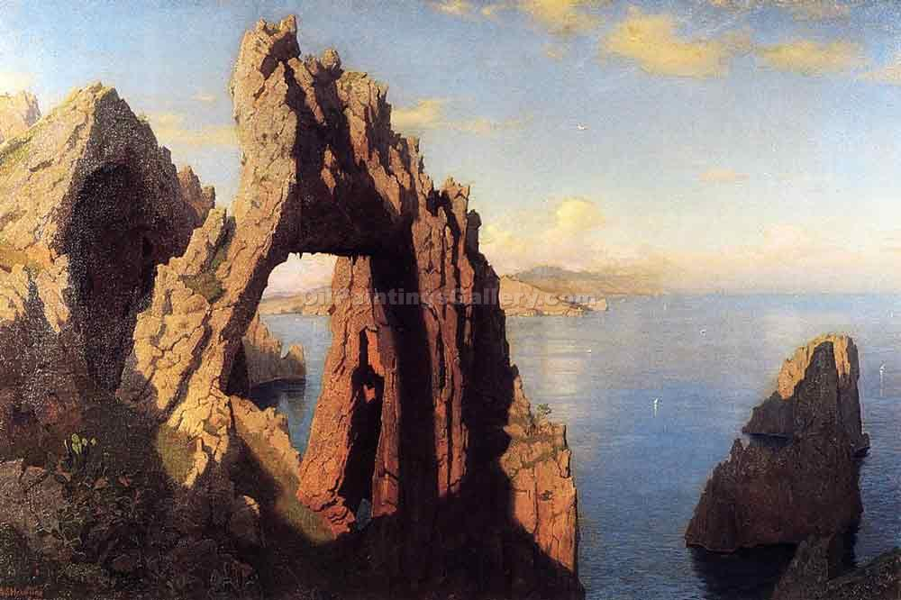 """Natural Arch at Capri"" by  William Stanley Haseltine"