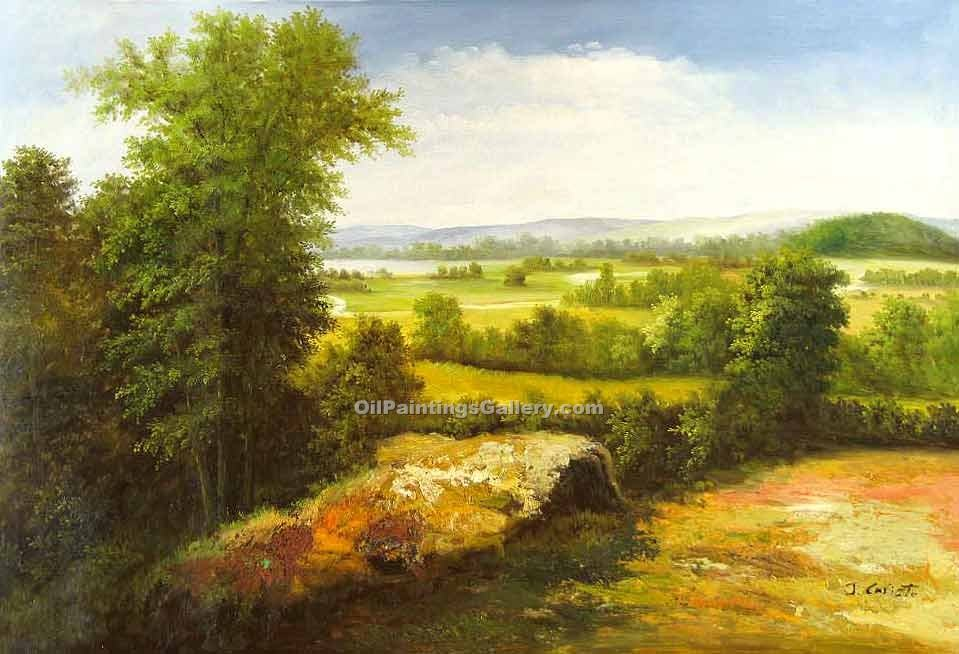 Famous Painters' Reproduction Paintings Online | American Realism & Impressionism - Nature Path 72 Green