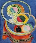 Nature morte au tapis rouge by  Robert Delaunay (Painting ID: AG-0223-KA)