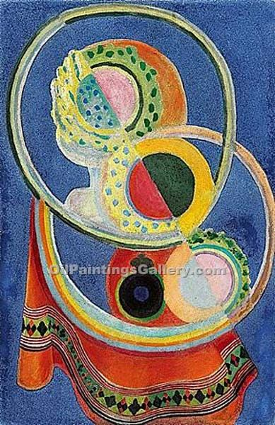 """Nature morte au tapis rouge"" by  Robert Delaunay"