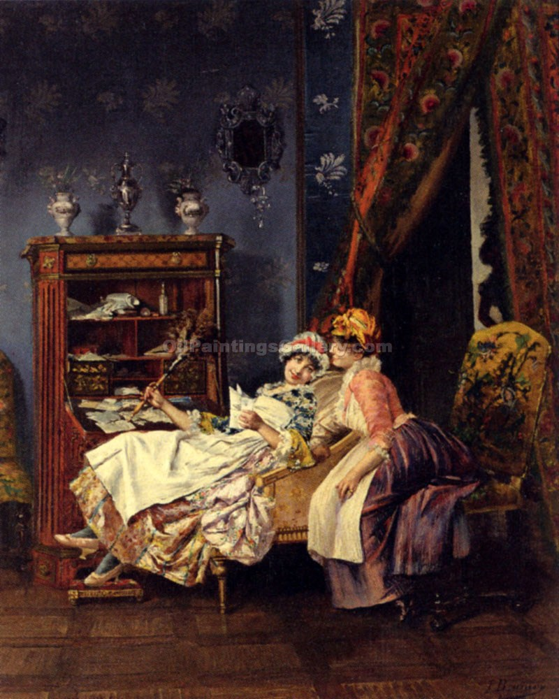 Naughty Maids by FrancoisBrunery | Best Place To Buy Paintings Online - Oil Paintings Gallery