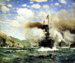 Naval Battle  by  James Gale Tyler (Painting ID: LA-2182-KA)