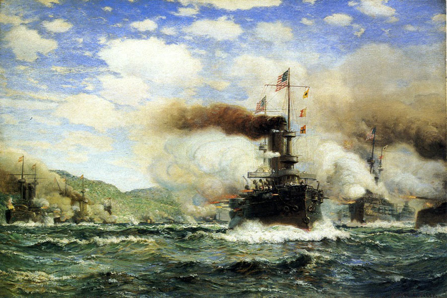 """Naval Battle "" by  James Gale Tyler"