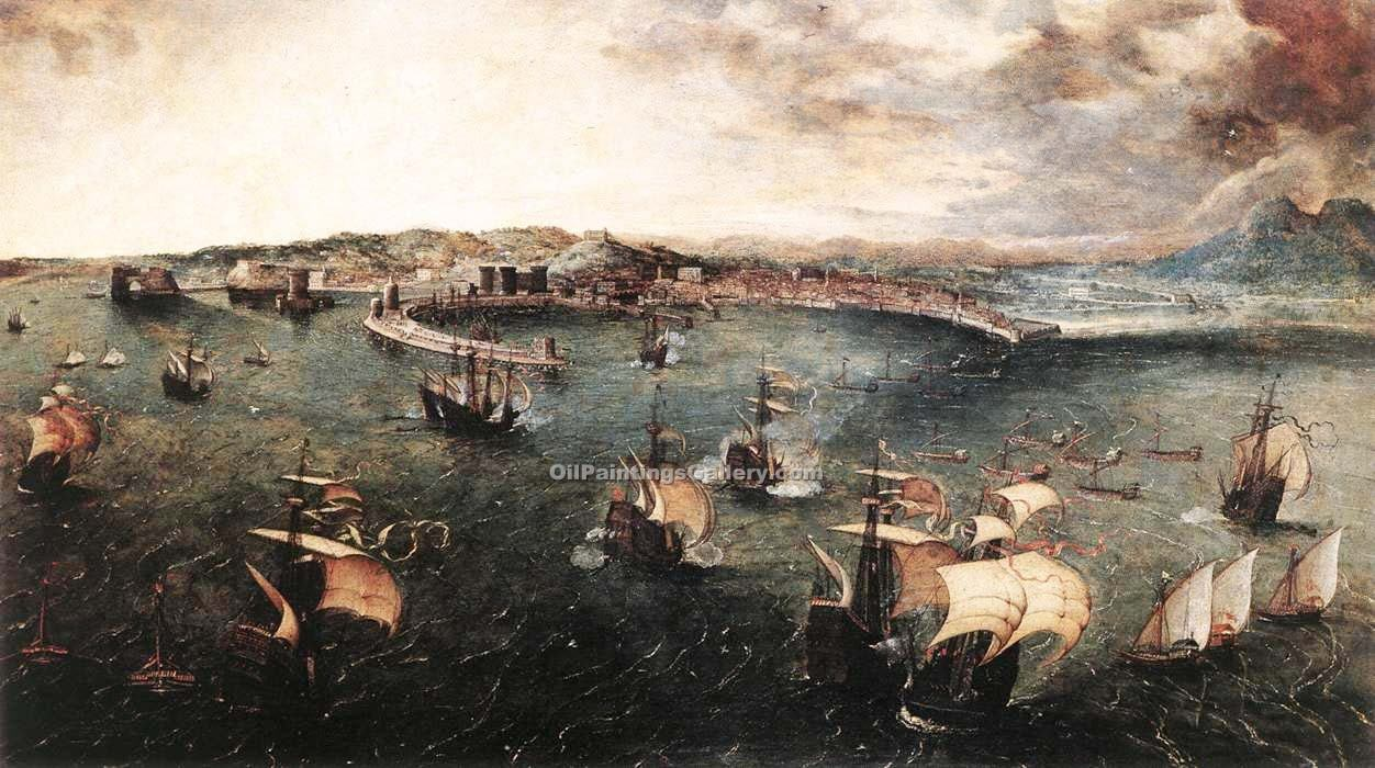 """Naval battle in the Gulf of Naples"" by  Pieter the Elder Brueghel"